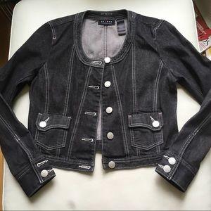 Axcess Black Threaded Denim Jacket